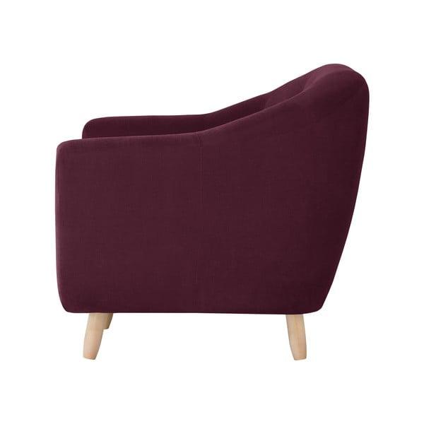 Bordowa sofa dwuosobowa Jalouse Maison Vicky