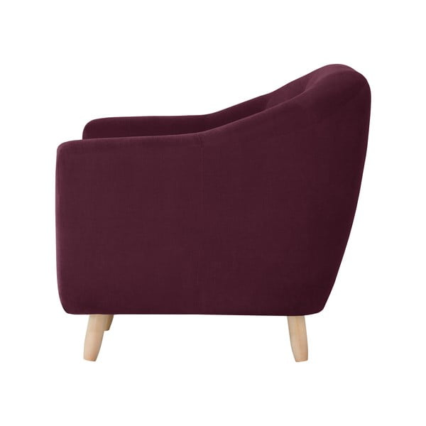 Bordowa sofa trzyosobowa Jalouse Maison Vicky