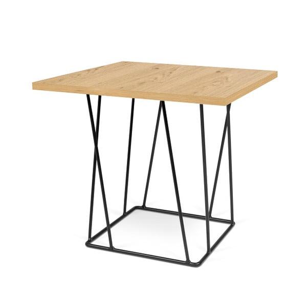 Dębowy stolik z czarnymi nogami TemaHome Helix, 50 cm