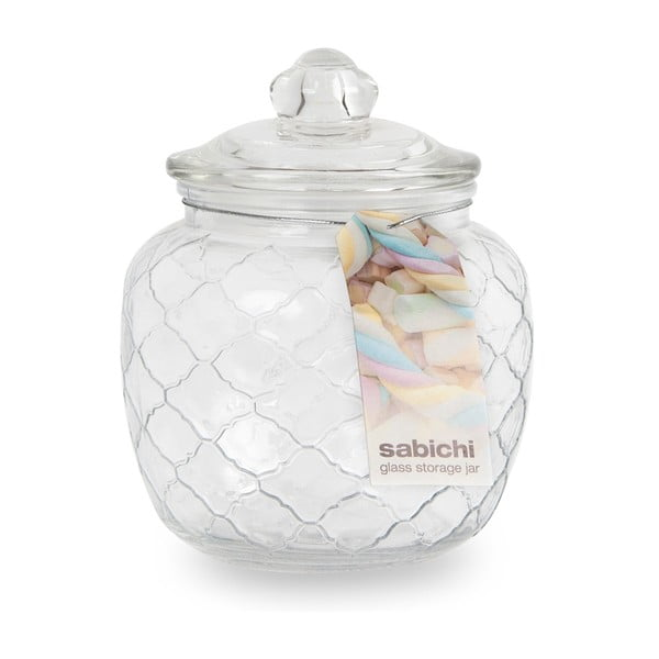 Szklany pojemnik z wieczkiem na słodycze Sabichi, 1400 ml