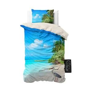 Pościel z mikroperkalu Sleeptime Beach Heron, 140x220 cm