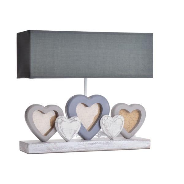 Lampa stołowa z ramkami na zdjęcia Heart