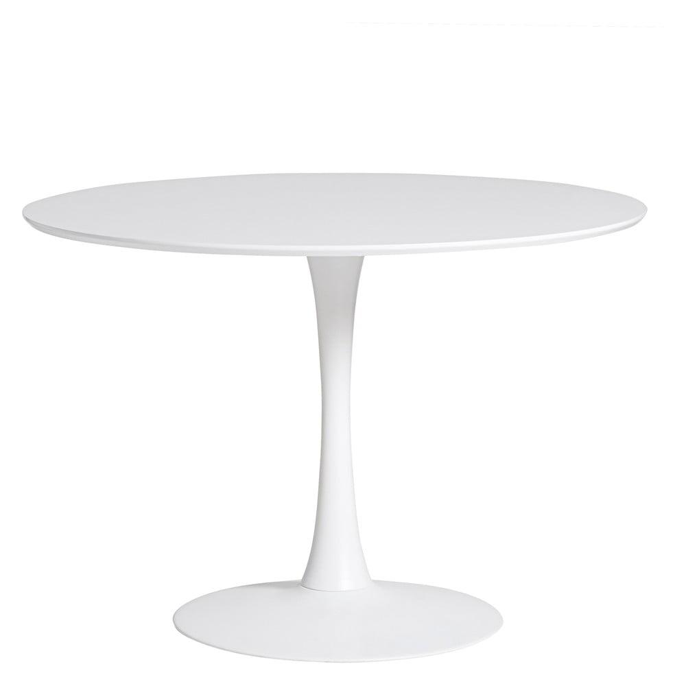 Okrągły biały stół do jadalni Marckeric Oda, ⌀ 110 cm