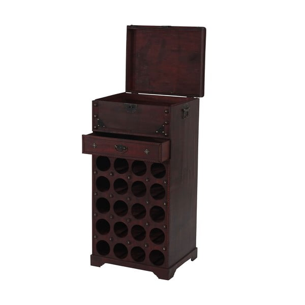 Brązopwy stojak na wino (20 butelek) Mendler Shabby Colonial, 94 cm