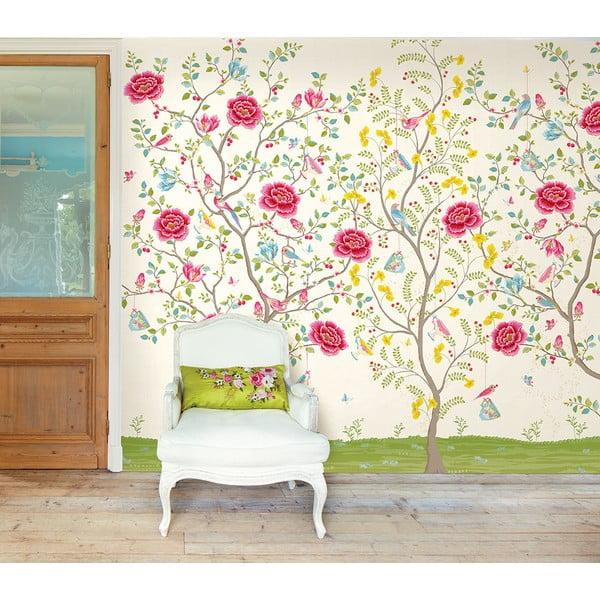 Tapeta Pip Studio Morning Glory, 372x280 cm, biała