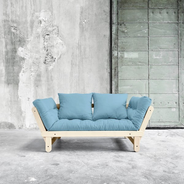 Sofa rozkładana Karup Beat Natural/Celeste