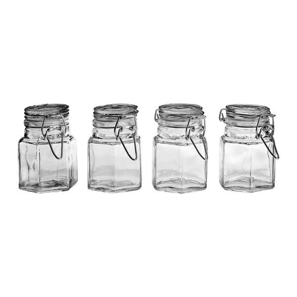 Komplet 4 szklanych pojemników na przyprawy Premier Housewares
