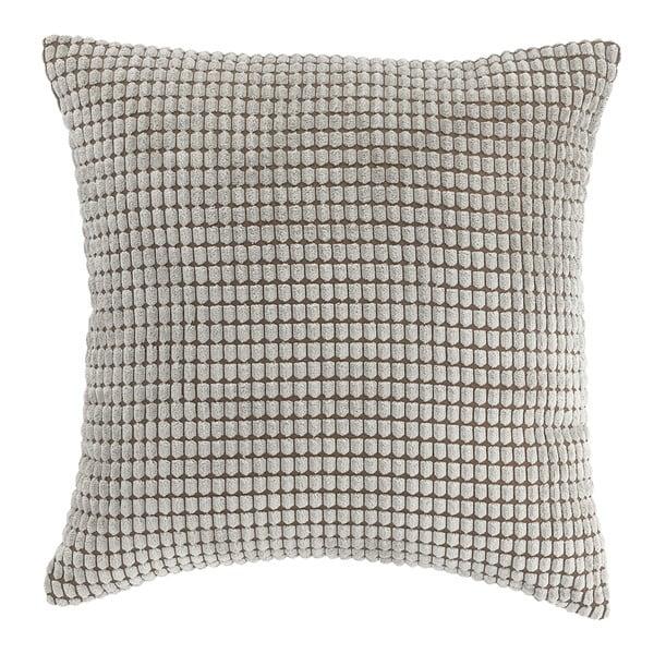 Pikowana poduszka z wypełnieniem 45x45cm, szara