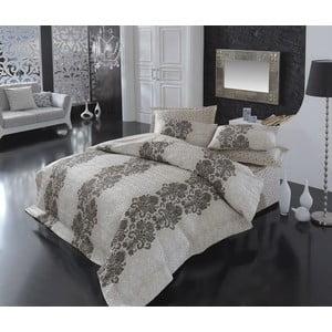 Pikowana narzuta, prześcieradło i poszewki na poduszki Amanda Beige, 220x230 cm