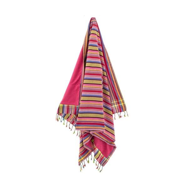 Ręcznik Isra Pink, 100x178 cm