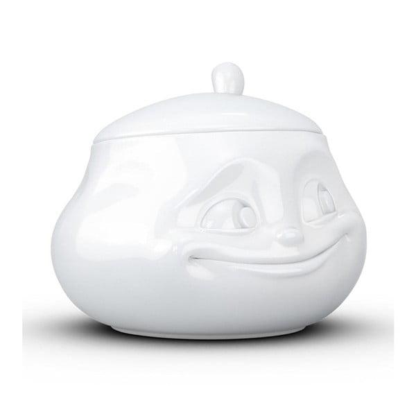 Biała uśmiechnięta cukierniczka 58products