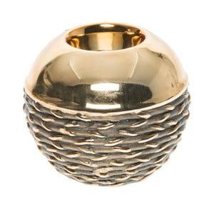Świecznik ceramiczny Golden