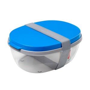 Pojemnik na sałatkę z niebieskim wieczkiem Rosti Mepal Ellipse