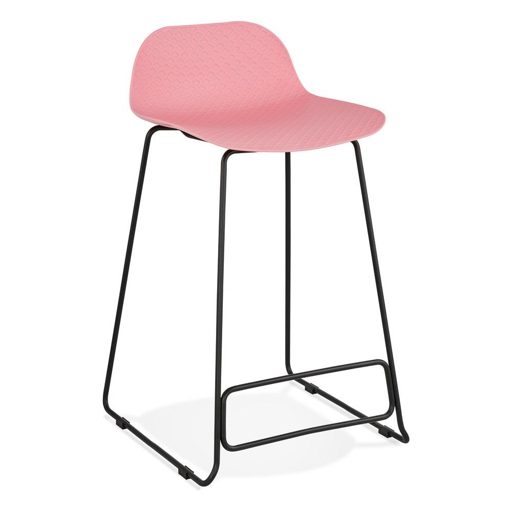 Różowy hoker Kokoon Slade Mini I, wys. siedziska 66 cm