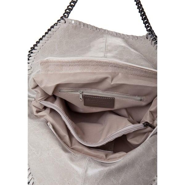 Beżowa torebka skórzana Rhona