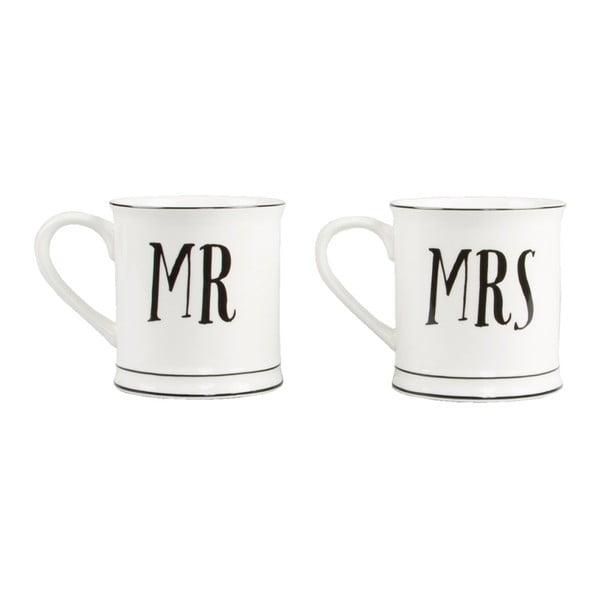 Zestaw 2 kubków ceramicznych Sass & Belle Mr & Mrs