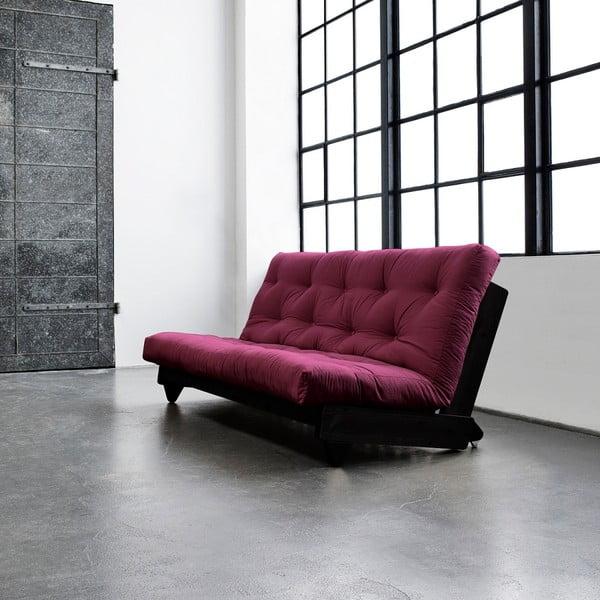 Sofa rozkładana Karup Fresh Wenge/Bordeaux