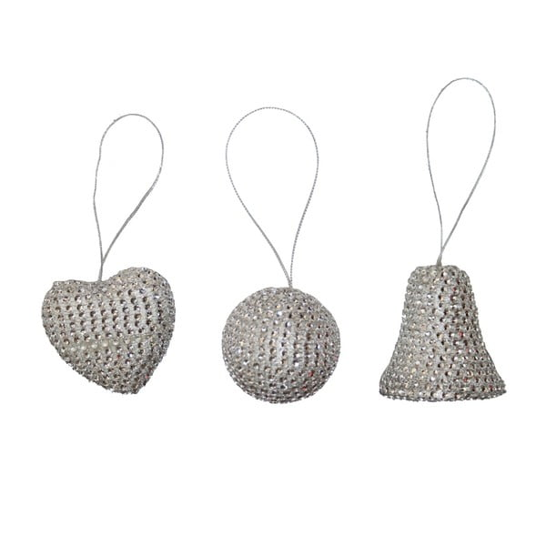 Zestaw 6 wiszących dekoracji Diamonds