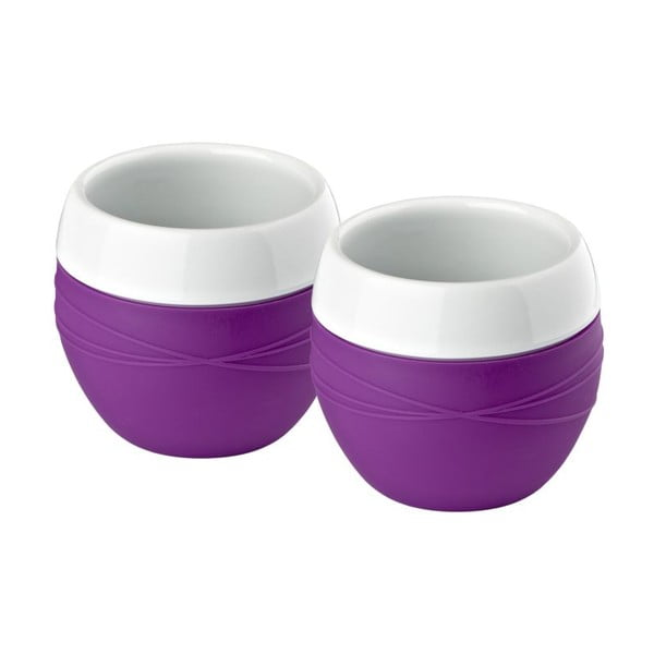 Komplet 2 kubków Purple Zone, 0,2 l