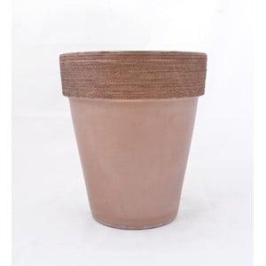 Doniczka ceramiczna Graffiato 30 cm, kawowa