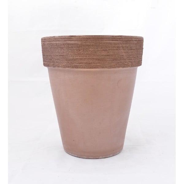 Doniczka ceramiczna Graffiato 35 cm, kawowa