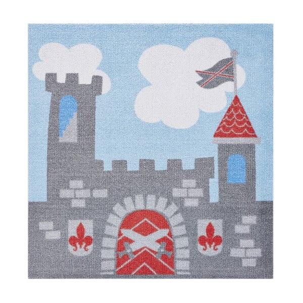 Dywan dziecięcy Hanse Home Kiddy Szary zamek , 100x100cm