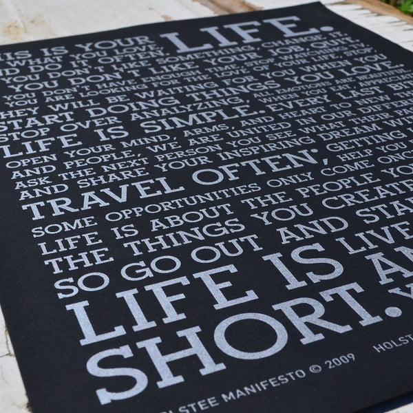 Plakat Black Manifesto, 41x30 cm
