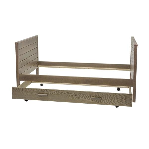 Ciemne łóżko Woodman Woody, 90x200 cm