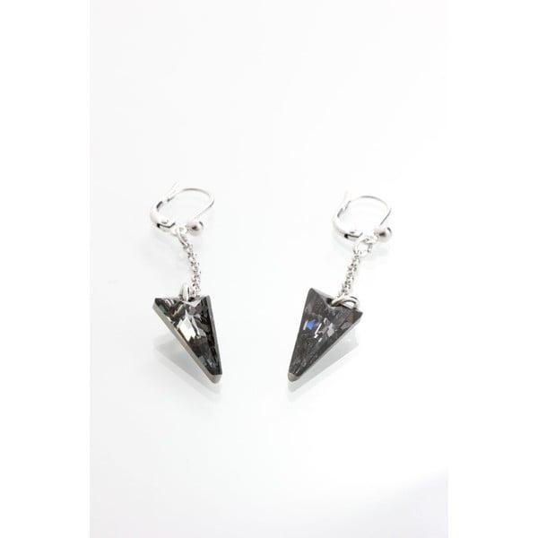 Czarne kolczyki z kryształami Swarovskiego Yasmine Crystal