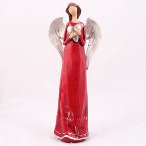 Ceramiczny anioł z sercem