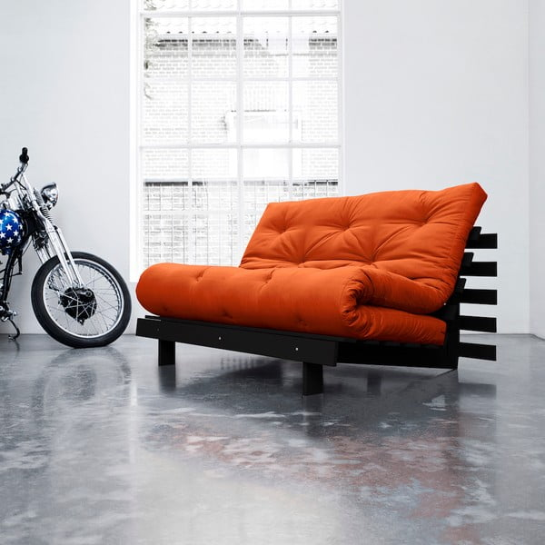 Sofa rozkładana Karup Roots Wenge/Orange