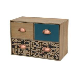 Minikomoda z drewna jodłowego z 4 szufladami Livin Hill Portofino
