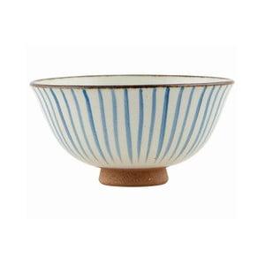 Ręcznie malowana miska Stripes Blue, 12x6 cm