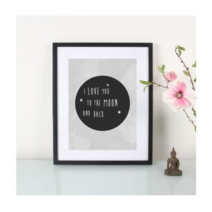 Plakat I love to the moon and back, A3