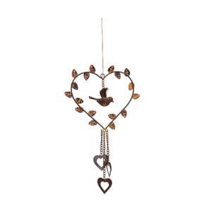 Dekoracja wisząca Antic Line Heart Bird