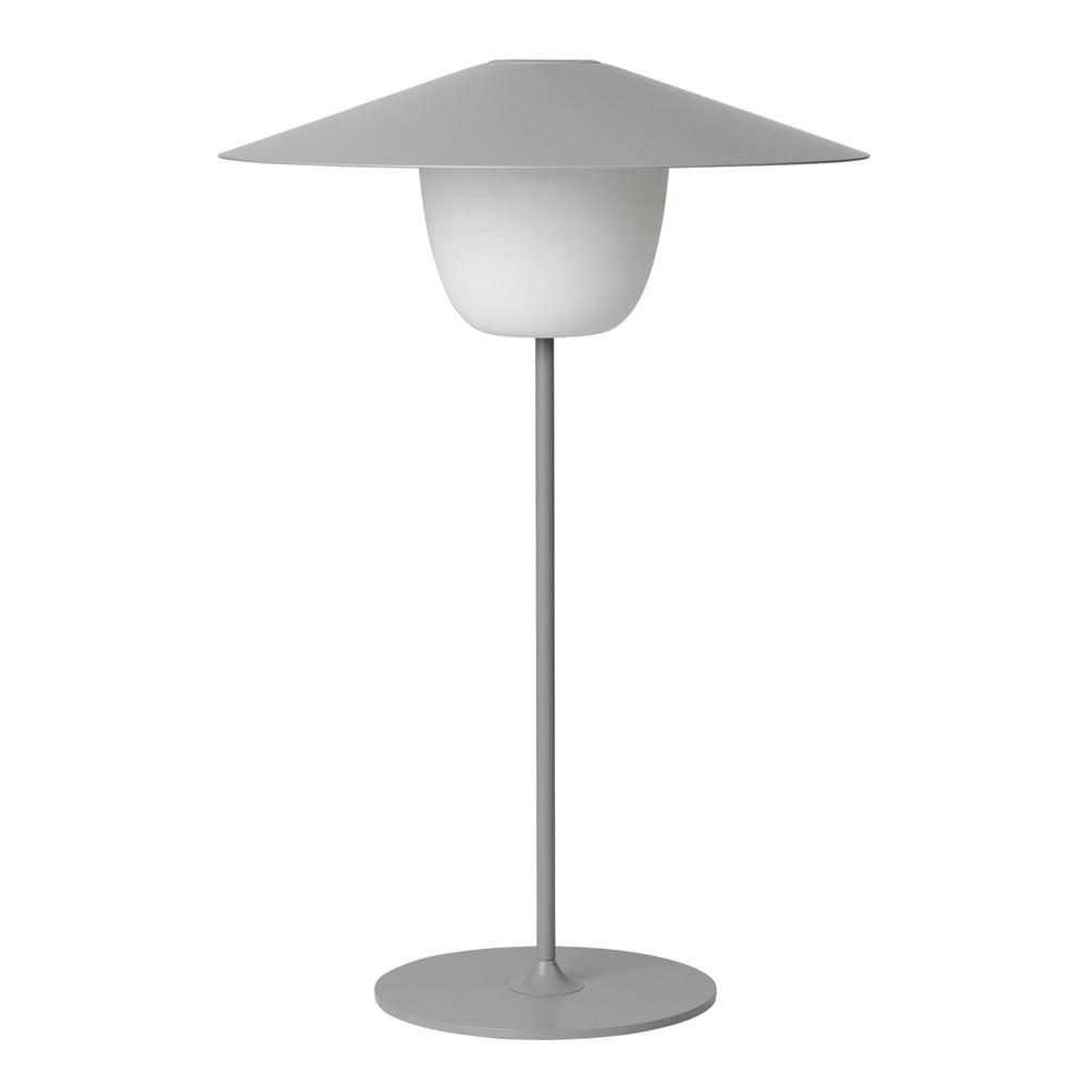 Jasnoszara średnia lampa led Blomus Ani Lamp