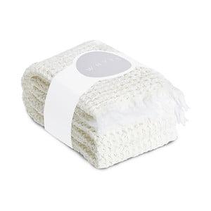 Komplet 2 kremowych ręczników o splocie waflowym Casa Di Bassi, 65x100 cm