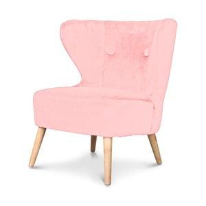 Różowy fotel Opjet Swing