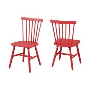 Czerwone krzesło Actona Riano