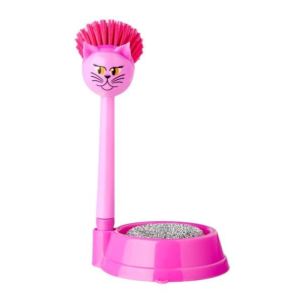 Zestaw do mycia naczyń Vigar Pink Cat