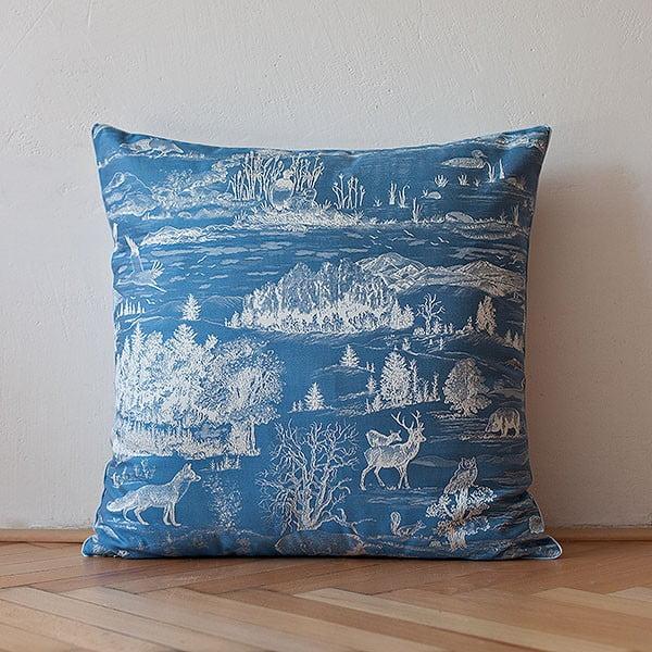 Poduszka z wypełnieniem Dark Blue Forest, 50x50 cm