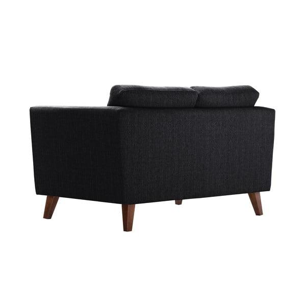 Czarna sofa dwuosobowa Jalouse Maison Elisa