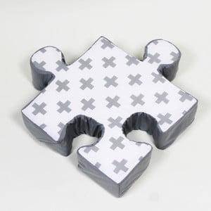 Szara poduszka Puzzle Cross