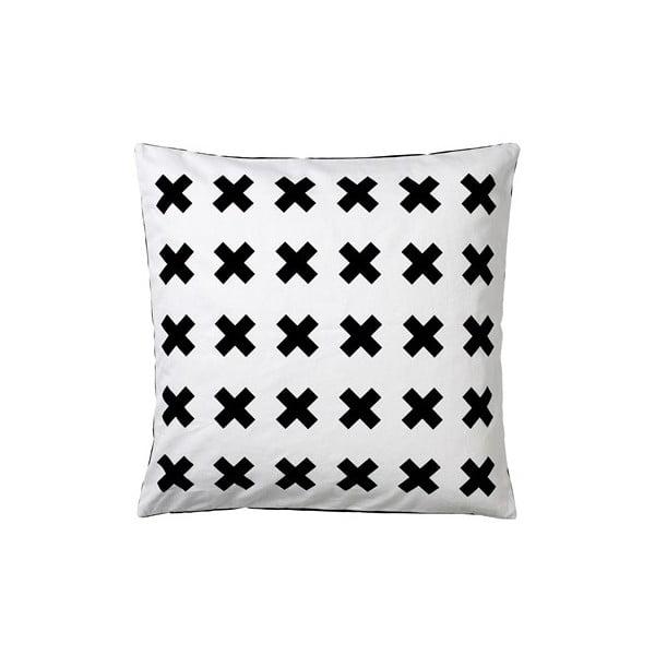 Poduszka Stitches Black/White, 50x50 cm