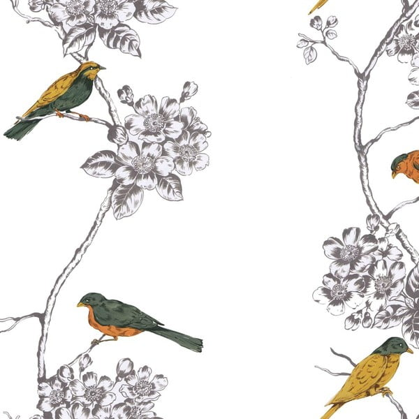 Bawełniana poszwa na kołdrę Happy Friday Spring Bird, 220 x 220 cm