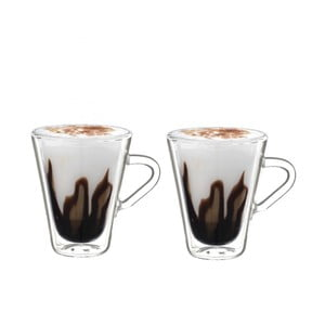 Zestaw 2 szklanek z podwójną ścianką Bredemeijer Esspressino, 105 ml