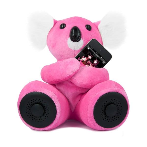 Koala Hi-Koali z wbudowanym głośnikiem, różowa