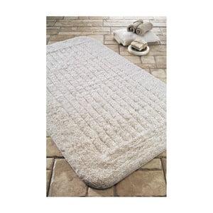Dywanik łazienkowy Cotton Stripe Ecru, 60x100 cm