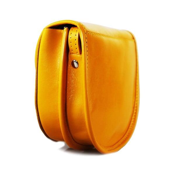 Skórzana torebka Pisa Giallo