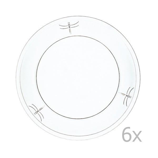 Zestaw 6 talerzy Libellelules, 25 cm